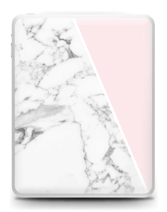 White Marble and pink pastell Skin IPad 1
