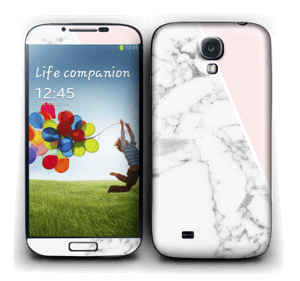 White Marble and pink pastell Skin Galaxy S4