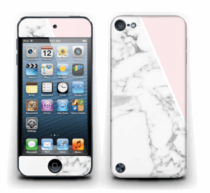 White Marble and pink pastell Skin IPod Touch 5th Gen
