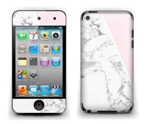 White Marble and pink pastell Skin IPod Touch 4th Gen