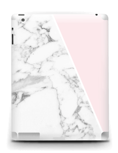 White Marble and pink pastell Skin IPad 4/3/2