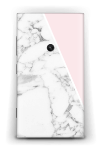 White Marble and pink pastell Skin Nokia Lumia 920
