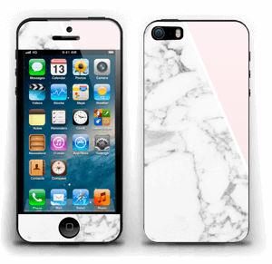 White Marble and pink pastell Skin IPhone 5s