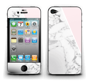 White Marble and pink pastell Skin IPhone 4/4s