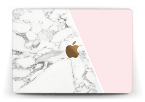 Marmor og rosa Skin MacBook 12""