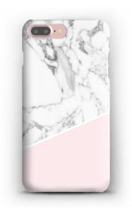 White Marble and Pink case IPhone 7 Plus