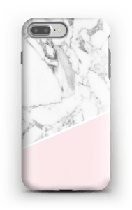 White Marble and Pink case IPhone 7 Plus tough