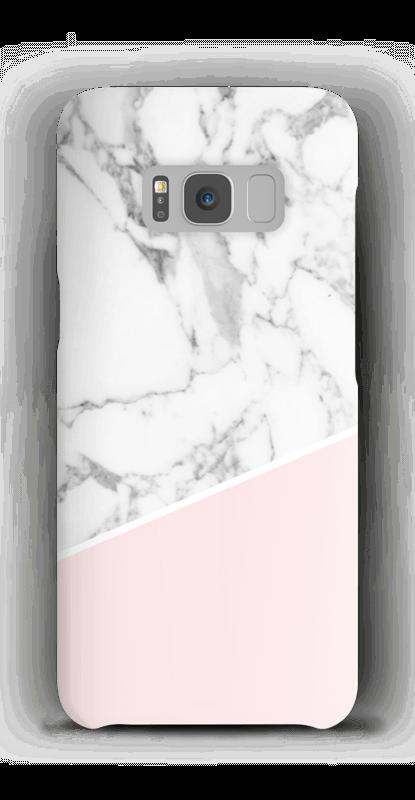 Weißes Marmor und Pink Handyhülle Galaxy S8