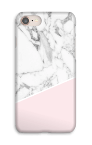White Marble and Pink case IPhone 8