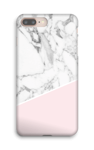 White Marble and Pink case IPhone 8 Plus