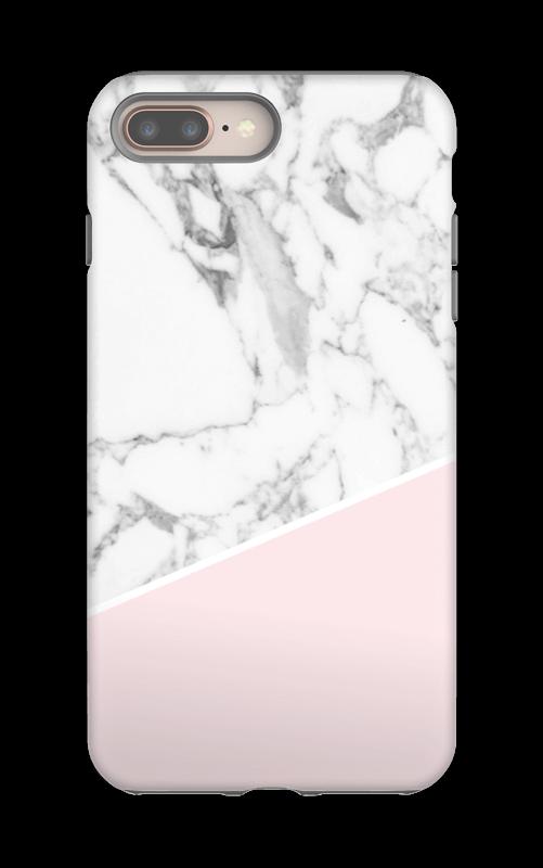 Valkoinen marmori ja pinkki kuoret IPhone 8 Plus tough