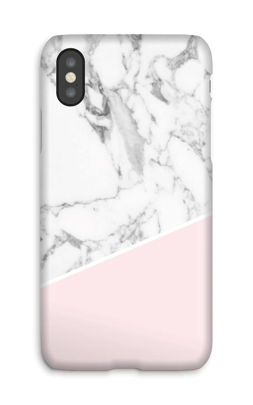White Marble and Pink case IPhone X