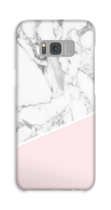 White Marble and Pink case Galaxy S8 Plus