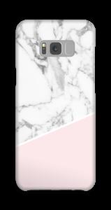 Lichtroze & wit marmer hoesje Galaxy S8 Plus