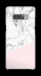 Lichtroze & wit marmer hoesje Galaxy Note8