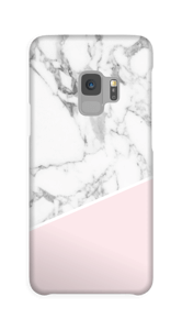 White Marble and Pink case Galaxy S9