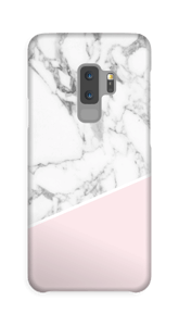 White Marble and Pink case Galaxy S9 Plus