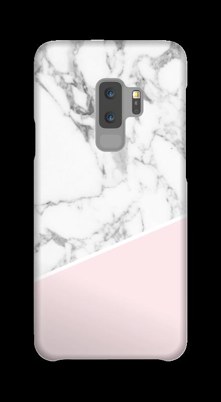 coque samsung s9 plus rose et marbre