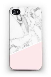 White Marble and Pink case IPhone 4/4s