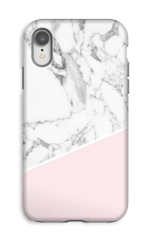 Rosa och marmor skal IPhone XR tough 5e7946e68479a