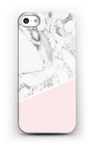 White Marble and Pink case IPhone 5/5S