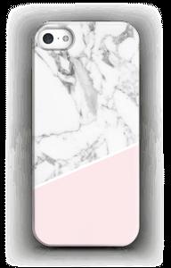 Valkoinen marmori ja pinkki kuoret IPhone 5/5S