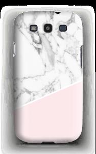 Lichtroze & wit marmer hoesje Galaxy S3