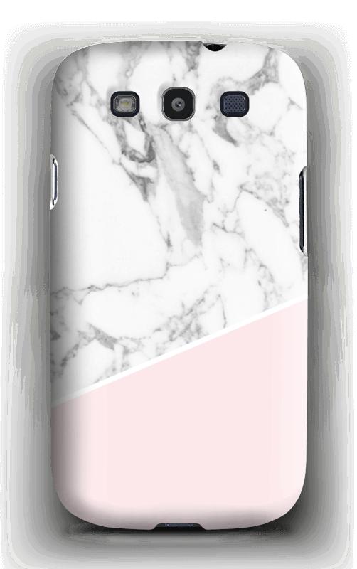 Valkoinen marmori ja pinkki kuoret Galaxy S3