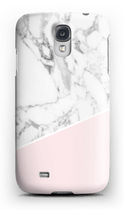 White Marble and Pink case Galaxy S4