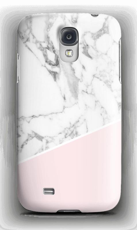 Valkonen marmori ja pinkki kuoret Galaxy S4