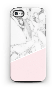 White Marble and Pink case IPhone 5/5s tough