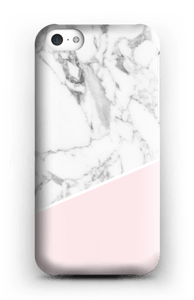 White Marble and Pink case IPhone 5c