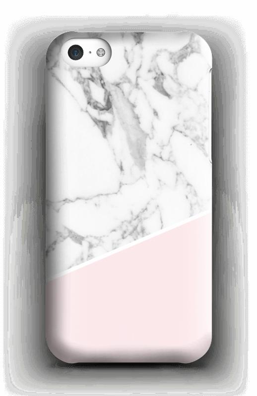Valkonen marmori ja pinkki kuoret IPhone 5c
