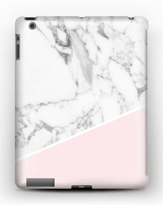 White Marble and Pink case IPad 4/3/2