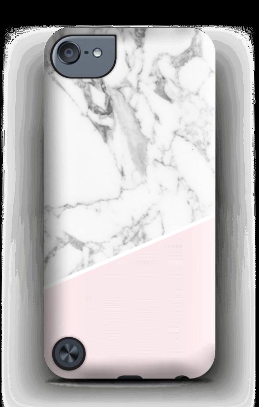 Valkonen marmori ja pinkki kuoret IPod Touch 5