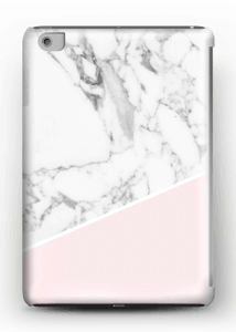 White Marble and Pink case IPad mini 2