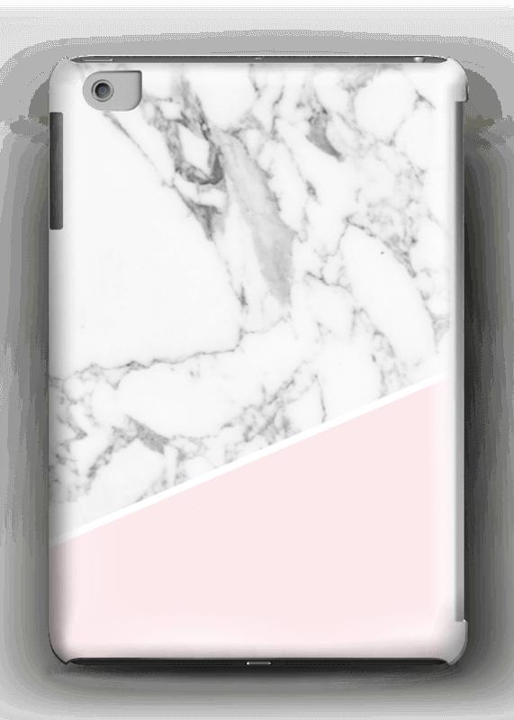 Valkoinen marmori ja pinkki kuoret IPad mini 2