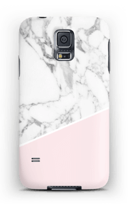 White Marble and Pink case Galaxy S5