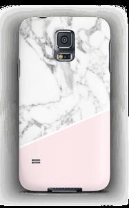 Weißes Marmor und Pink Handyhülle Galaxy S5
