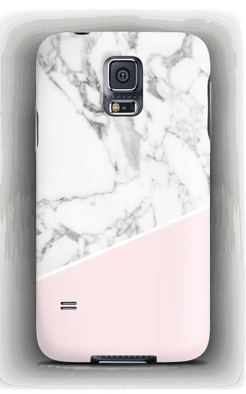 Valkonen marmori ja pinkki kuoret Galaxy S5