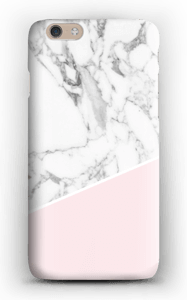 White Marble and Pink case IPhone 6