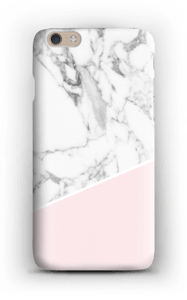 White Marble and Pink case IPhone 6 Plus