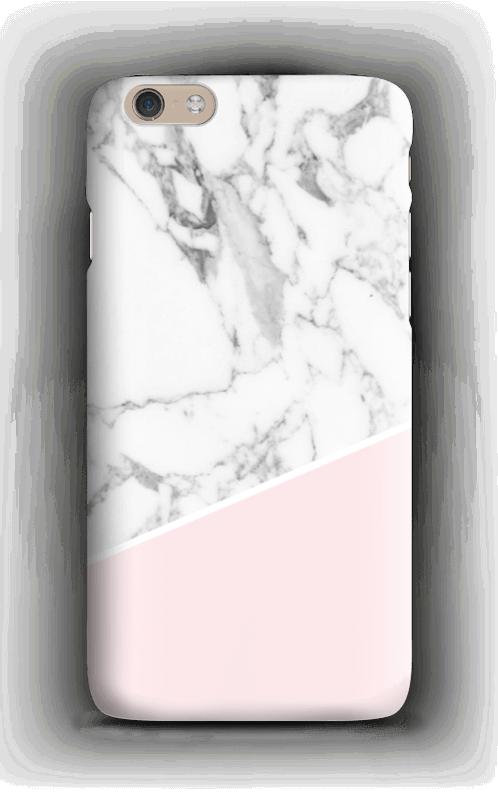 Valkoinen marmori ja pinkki kuoret IPhone 6 Plus