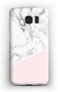White Marble and Pink case Galaxy S6