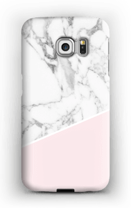 White Marble and Pink case Galaxy S6 Edge