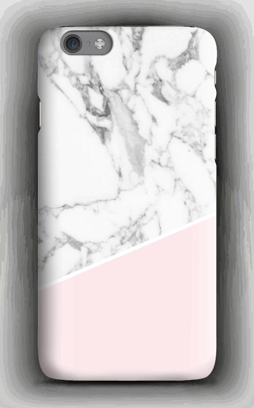 Valkoinen marmori ja pinkki kuoret IPhone 6s