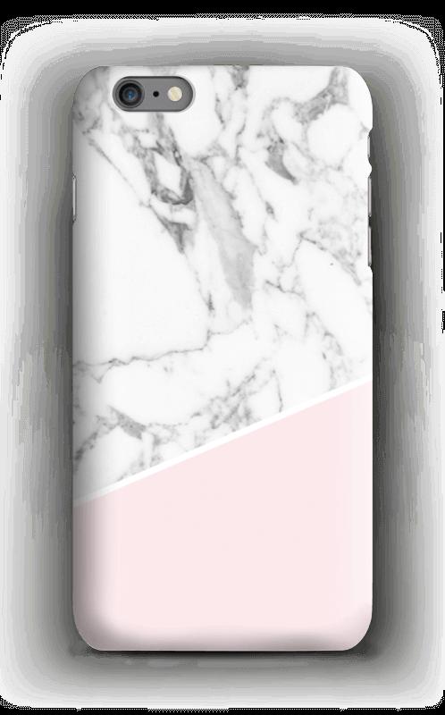 Valkonen marmori ja pinkki kuoret IPhone 6s Plus