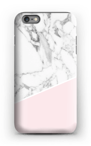 Lichtroze & wit marmer hoesje IPhone 6s Plus tough