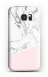 White Marble and Pink case Galaxy S7