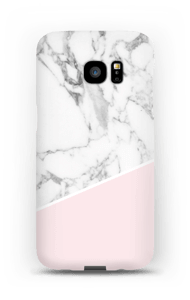 White Marble and Pink case Galaxy S7 Edge